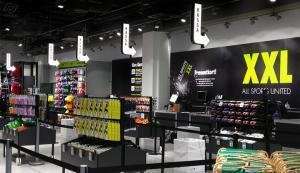 insidan av en XXL sports butik